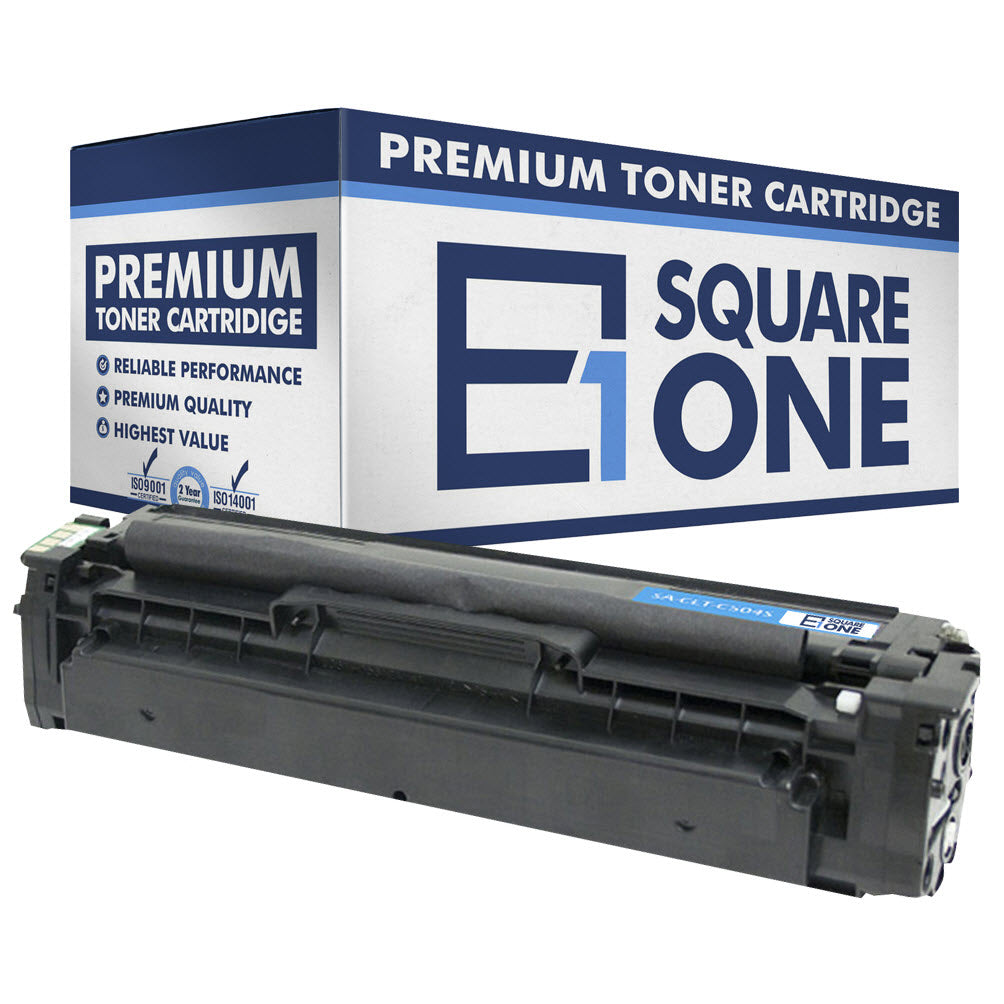 eSquareOne Compatible Toner Cartridge Replacement for Samsung CLT-C504S C504 (Cyan, 1-Pack)
