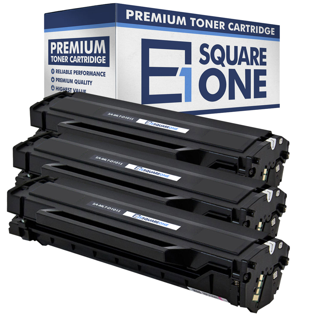 eSquareOne Compatible Toner Cartridge Replacement for Samsung MLT-D101S (Black, 3-Pack)