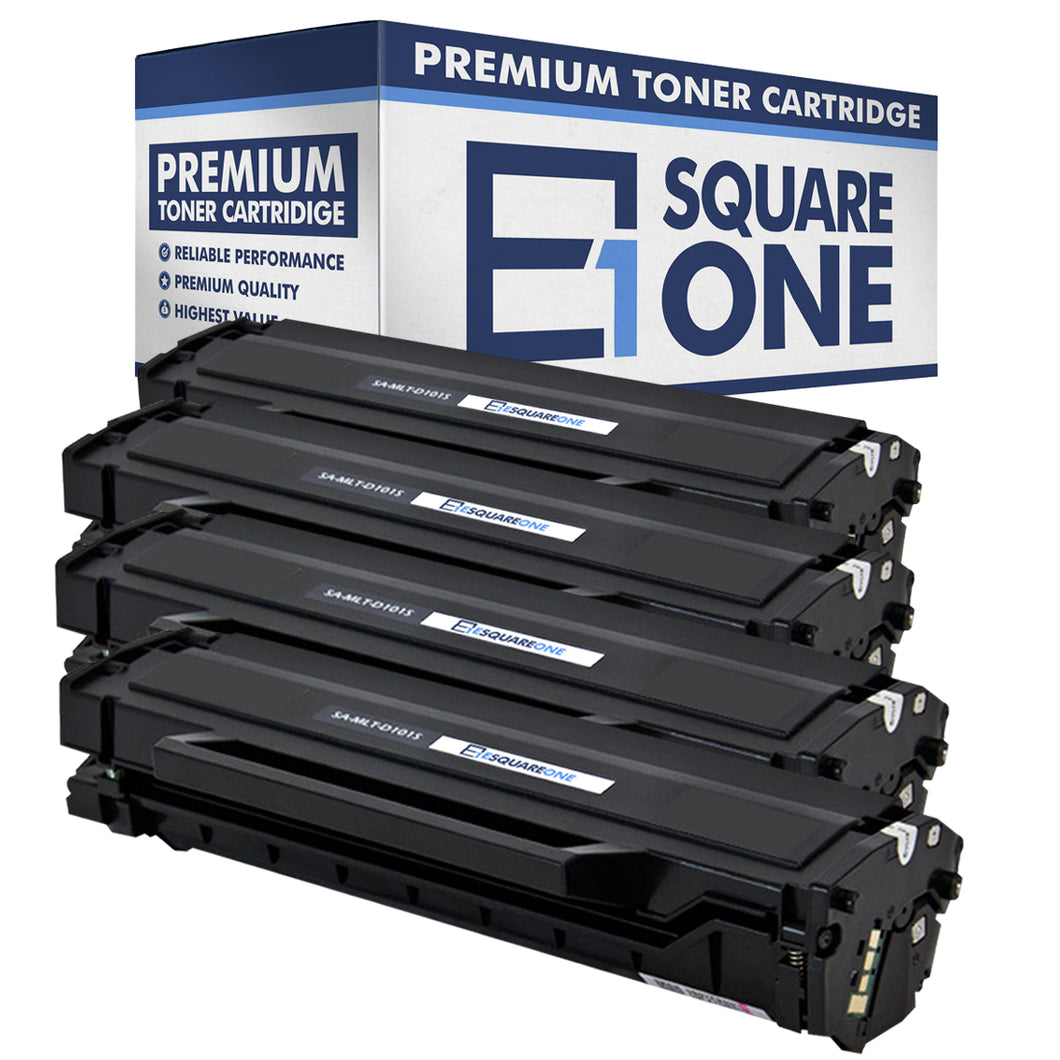 eSquareOne Compatible Toner Cartridge Replacement for Samsung MLT-D101S (Black, 4-Pack)