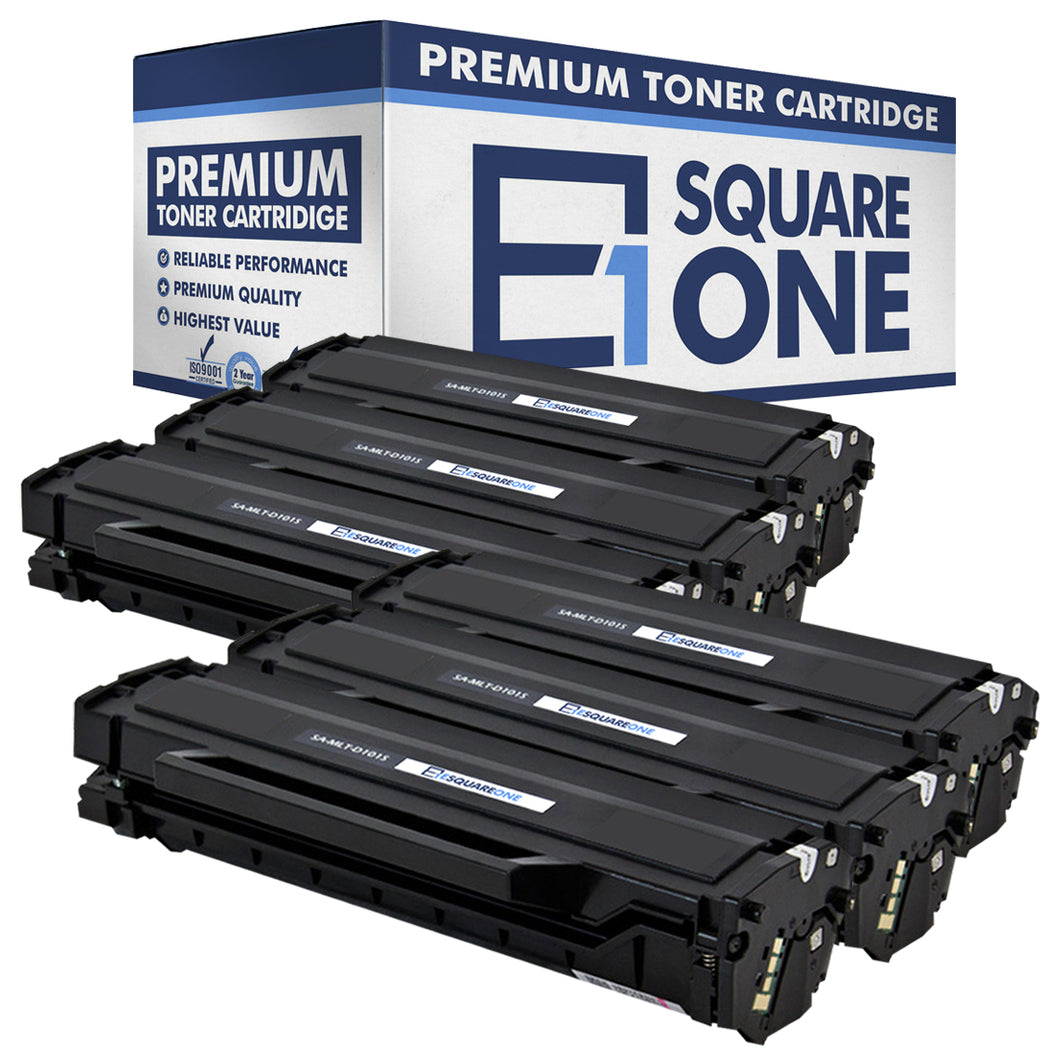 eSquareOne Compatible Toner Cartridge Replacement for Samsung MLT-D101S (Black, 6-Pack)