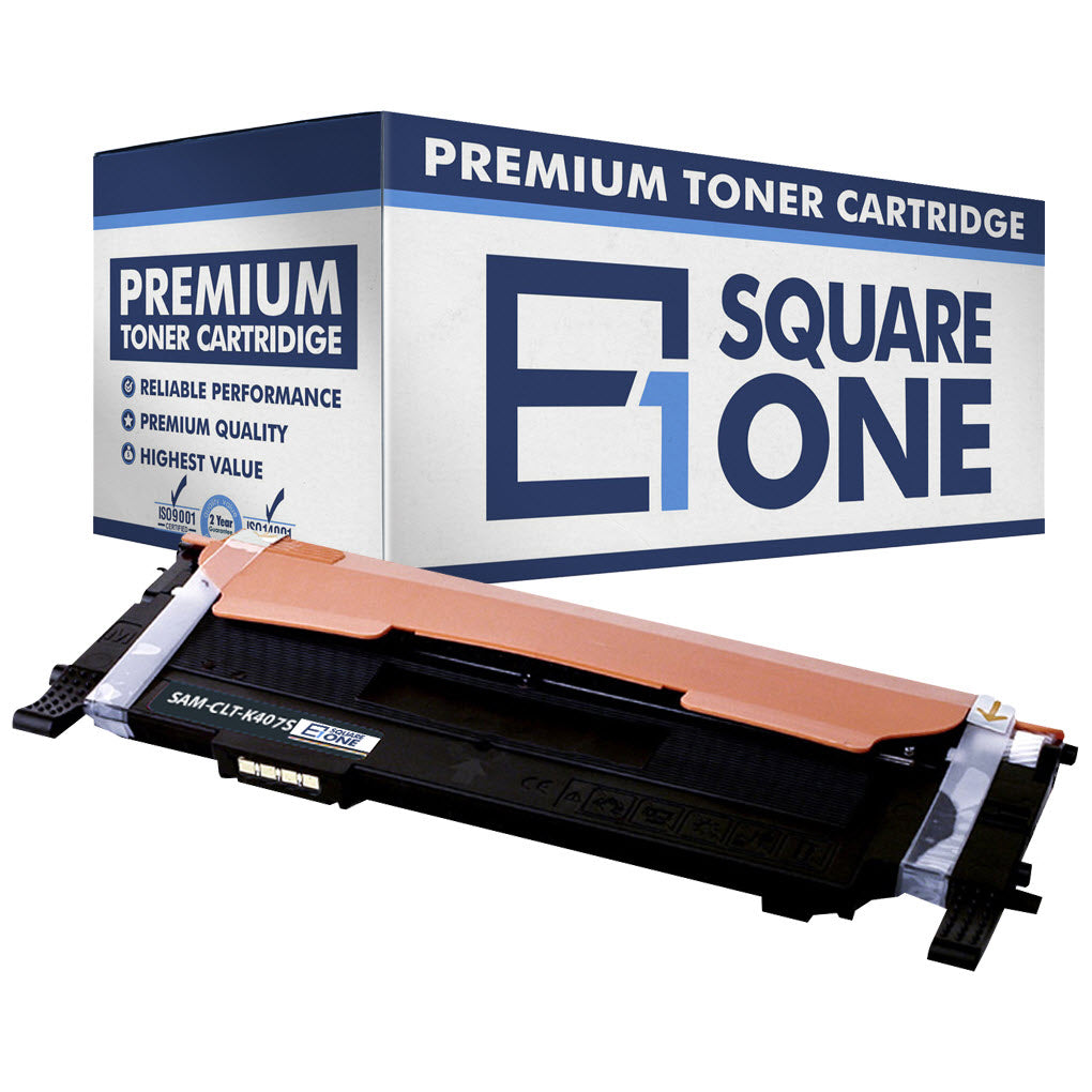 eSquareOne Compatible Toner Cartridge Replacement for Samsung CLT-K407S (Black, 1-Pack)