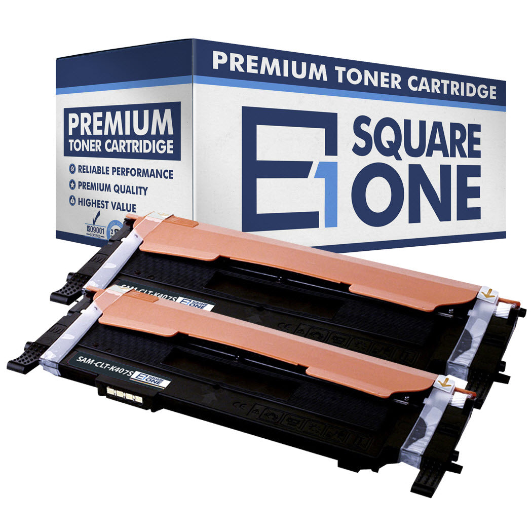 eSquareOne Compatible Toner Cartridge Replacement for Samsung CLT-K407S (Black, 2-Pack)