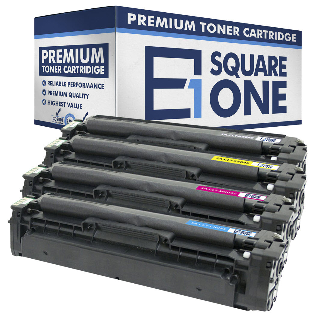 eSquareOne Compatible Toner Cartridge Replacement for Samsung CLT-C504S C504 CLT-M504S M504 CLT-Y504S Y504 CLT-K504S K504 (Black, Cyan, Magenta, Yellow)