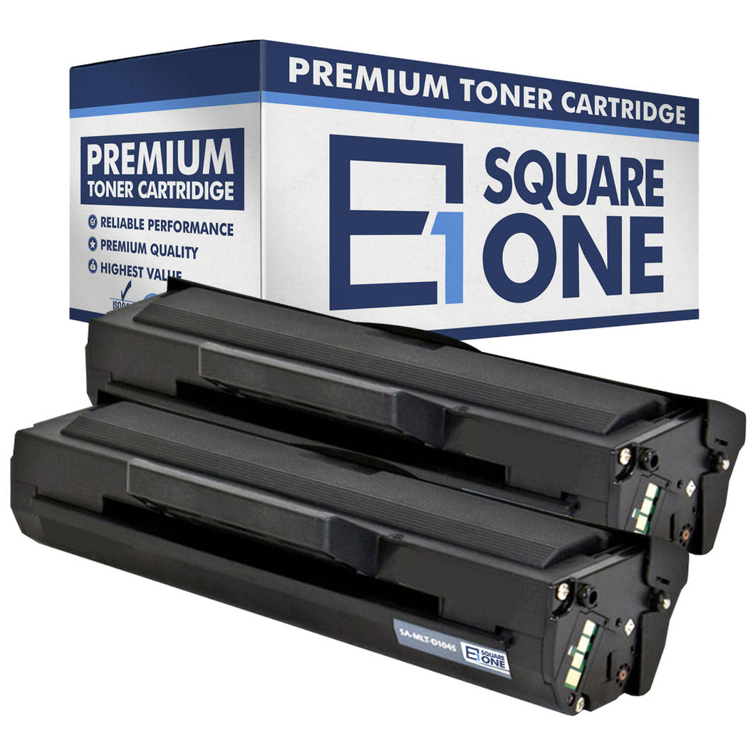 eSquareOne Compatible Toner Cartridge Replacement for Samsung MLT-D104S (Black, 2-Pack)