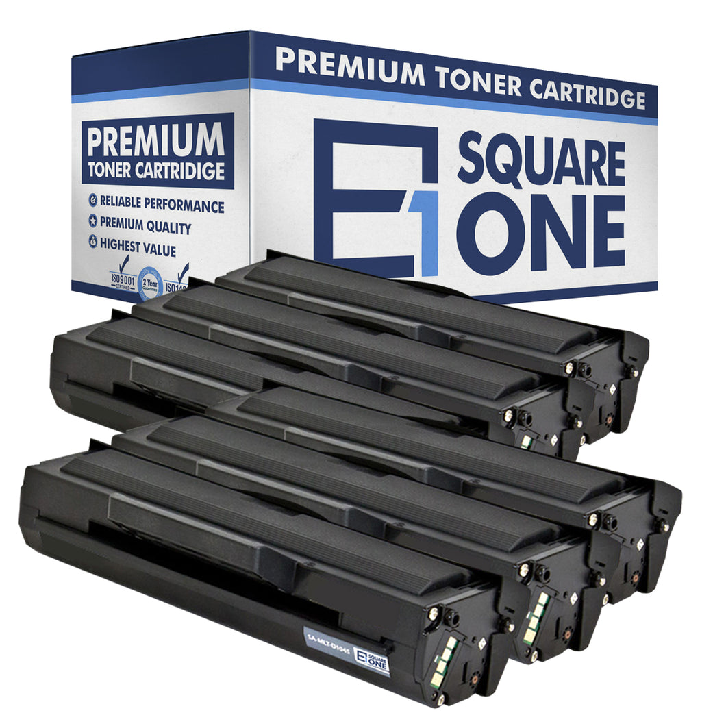 eSquareOne Compatible Toner Cartridge Replacement for Samsung MLT-D104S (Black, 6-Pack)