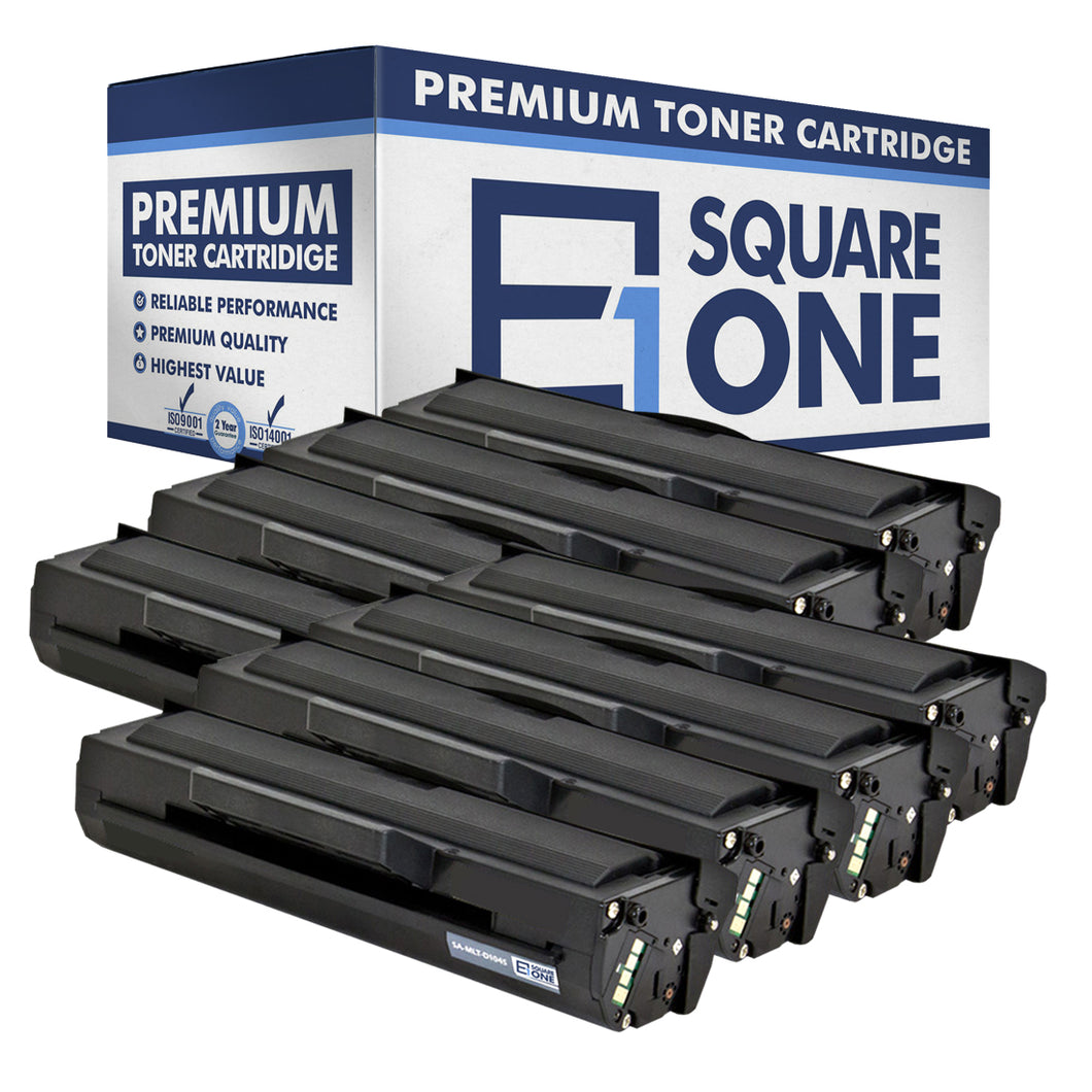 eSquareOne Compatible Toner Cartridge Replacement for Samsung MLT-D104S (Black, 8-Pack)