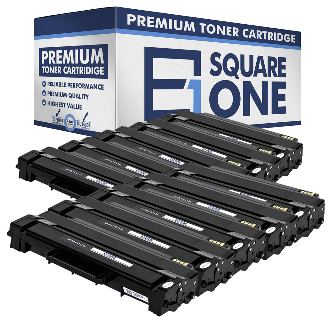 eSquareOne Compatible (High Yield) Toner Cartridge Replacement for Samsung MLT-D115L (Black, 10-Pack)