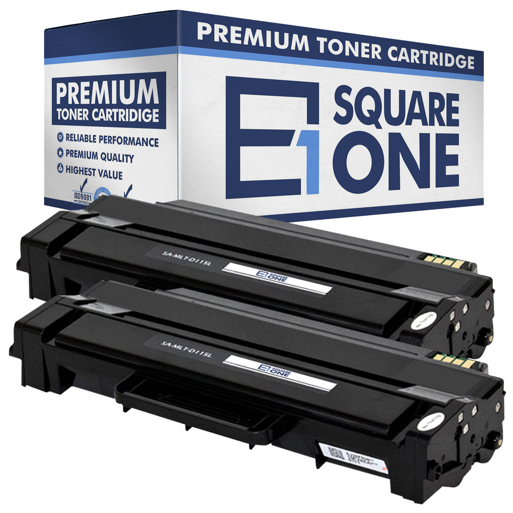 eSquareOne Compatible (High Yield) Toner Cartridge Replacement for Samsung MLT-D115L (Black, 2-Pack)