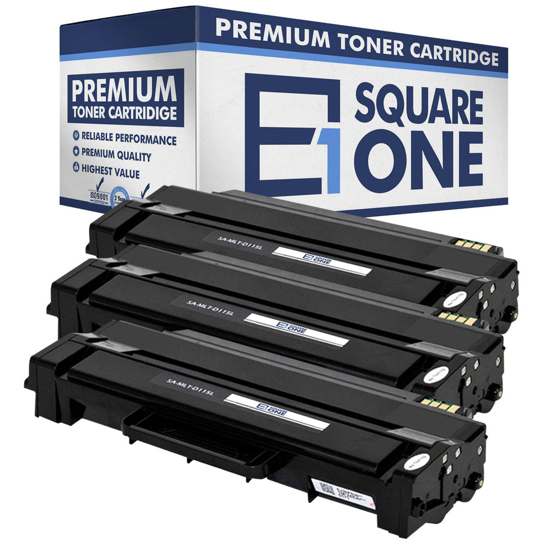 eSquareOne Compatible (High Yield) Toner Cartridge Replacement for Samsung MLT-D115L (Black, 3-Pack)