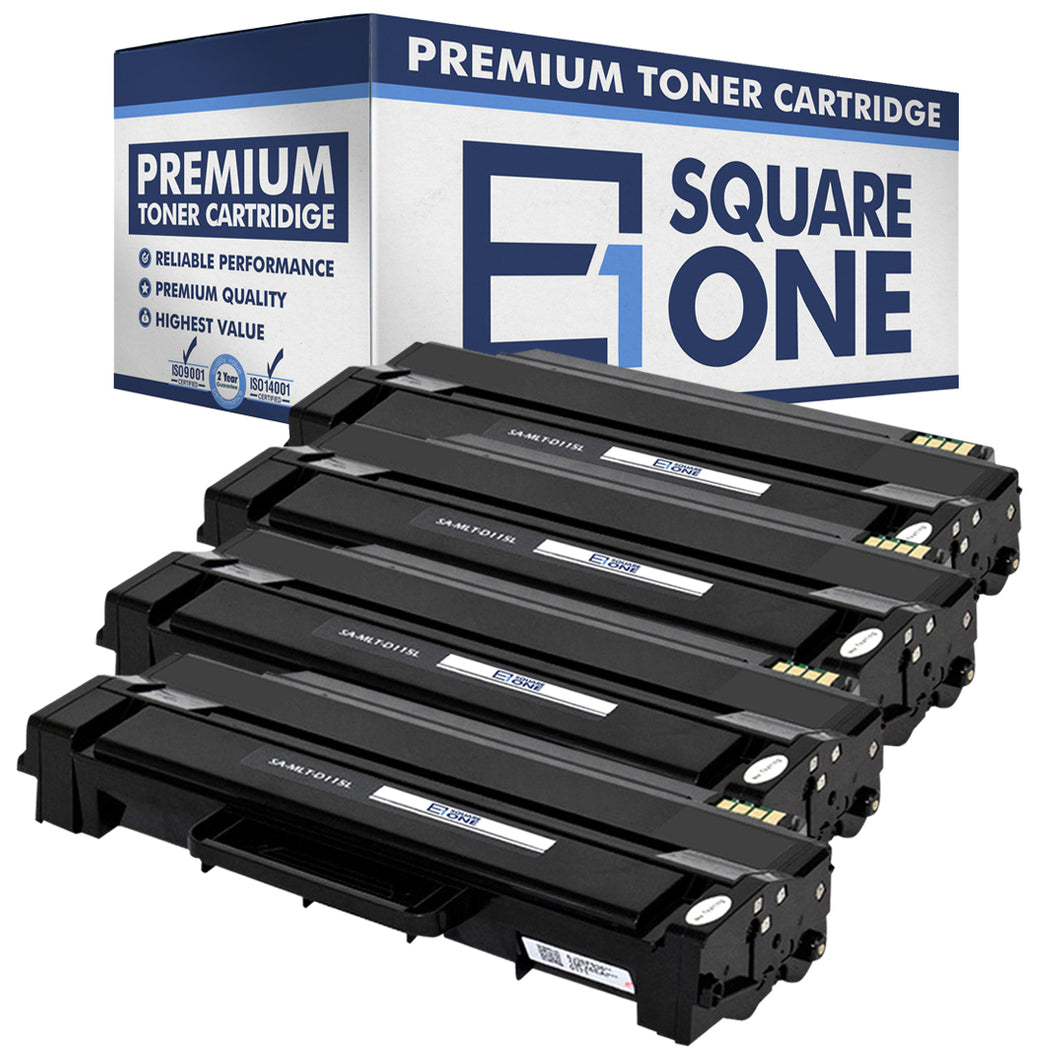eSquareOne Compatible (High Yield) Toner Cartridge Replacement for Samsung MLT-D115L (Black, 4-Pack)