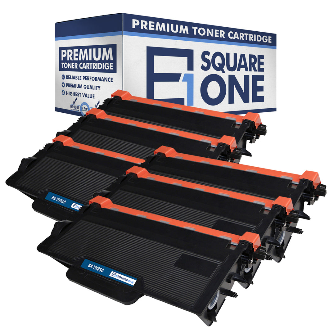 eSquareOne Compatible High Yield Toner Cartridge Replacement for Brother TN850 TN820 (Black, 6-Pack)