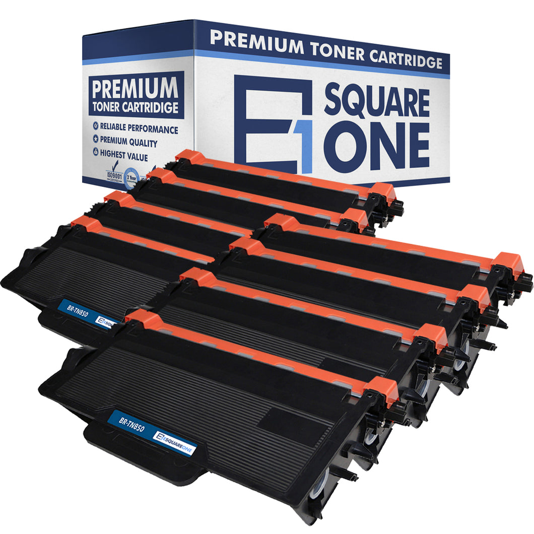 eSquareOne Compatible High Yield Toner Cartridge Replacement for Brother TN850 TN820 (Black, 8-Pack)