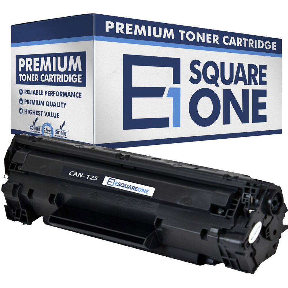 eSquareOne Compatible Toner Cartridge Replacement for Canon 125 3484B001AA (Black, 1-Pack)
