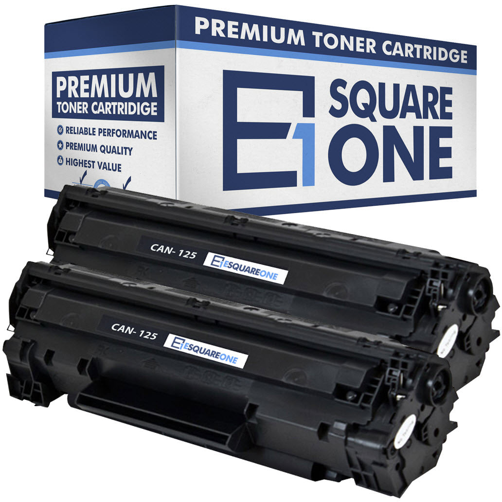 eSquareOne Compatible Toner Cartridge Replacement for Canon 125 3484B001AA (Black, 2-Pack)