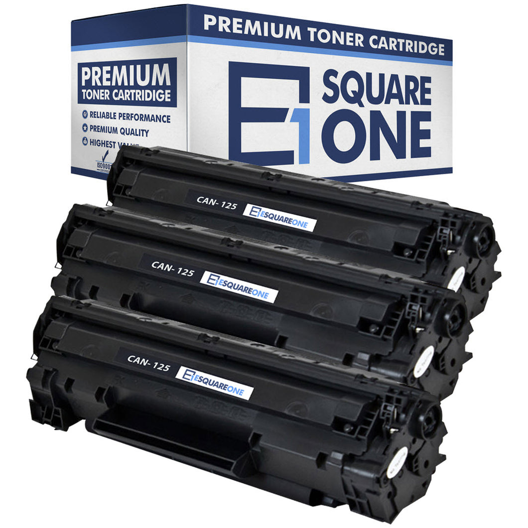 eSquareOne Compatible Toner Cartridge Replacement for Canon 125 3484B001AA (Black, 3-Pack)