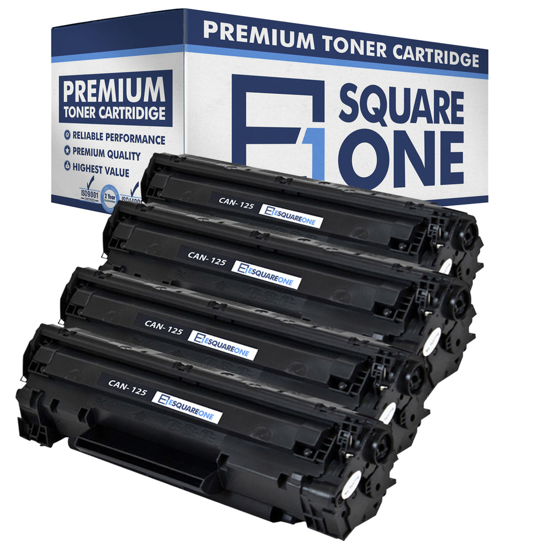 eSquareOne Compatible Toner Cartridge Replacement for Canon 125 3484B001AA (Black, 4-Pack)