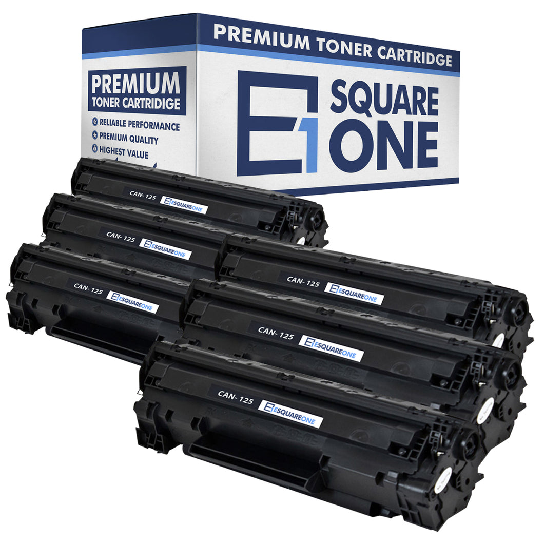 eSquareOne Compatible Toner Cartridge Replacement for Canon 125 3484B001AA (Black, 6-Pack)