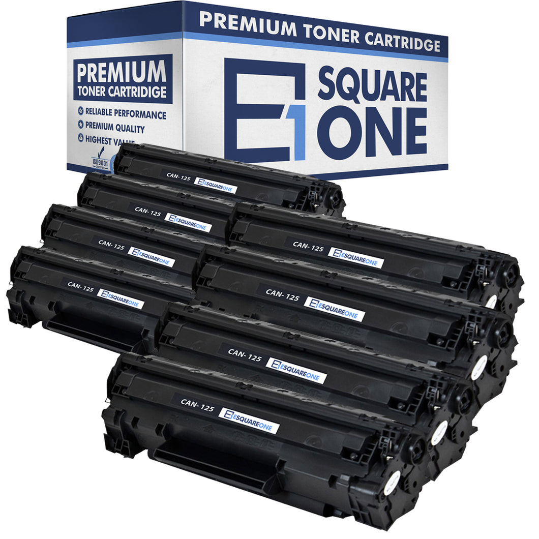 eSquareOne Compatible Toner Cartridge Replacement for Canon 125 3484B001AA (Black, 8-Pack)