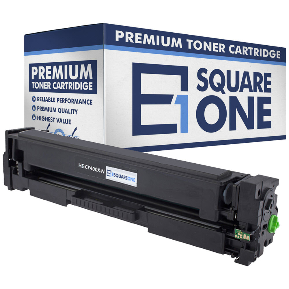 eSquareOne Compatible High Yield Toner Cartridge Replacement for HP 201X CF400X (Black, 1-Pack)
