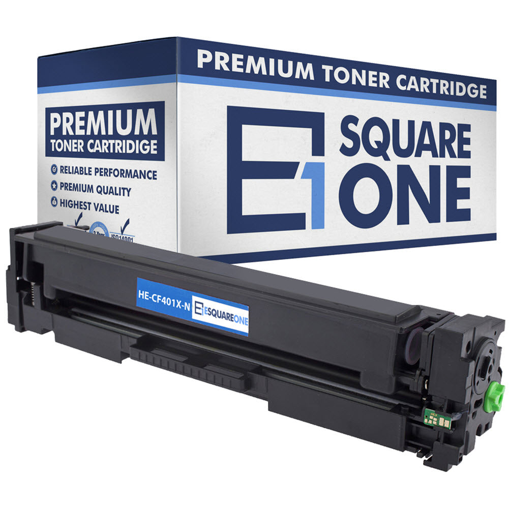 eSquareOne Compatible High Yield Toner Cartridge Replacement for HP 201X CF401X (Cyan, 1-Pack)