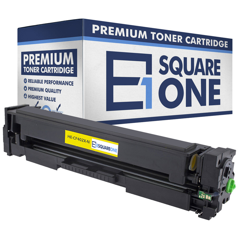 eSquareOne Compatible High Yield Toner Cartridge Replacement for HP 201X CF402X (Yellow, 1-Pack)
