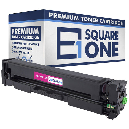 eSquareOne Compatible High Yield Toner Cartridge Replacement for HP 201X CF403X (Magenta, 1-Pack)