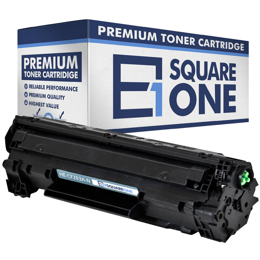 eSquareOne Compatible Toner Cartridge Replacement for HP 83A CF283A (Black, 1-Pack)