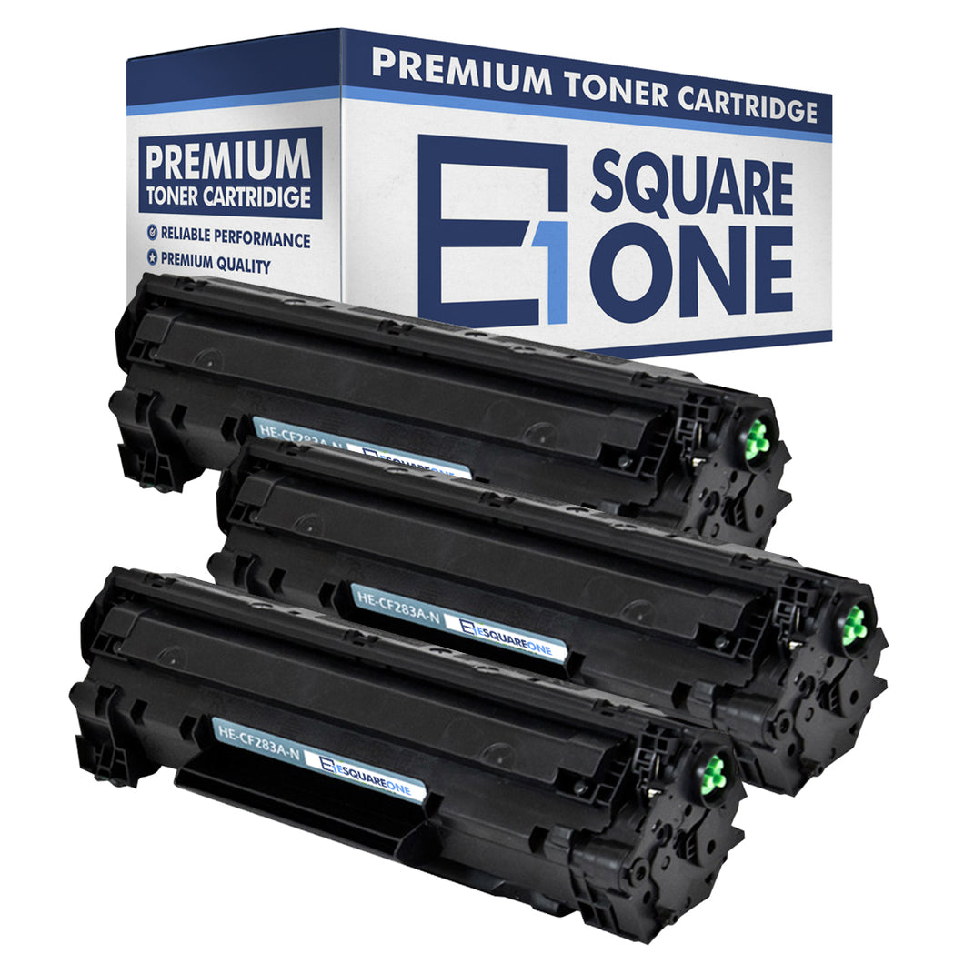 eSquareOne Compatible Toner Cartridge Replacement for HP 83A CF283A (Black, 3-Pack)