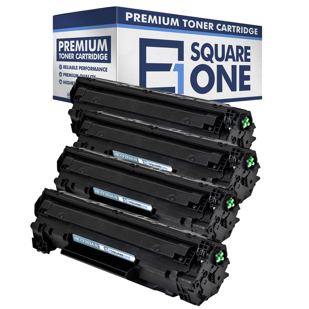 eSquareOne Compatible Toner Cartridge Replacement for HP 83A CF283A (Black, 4-Pack)