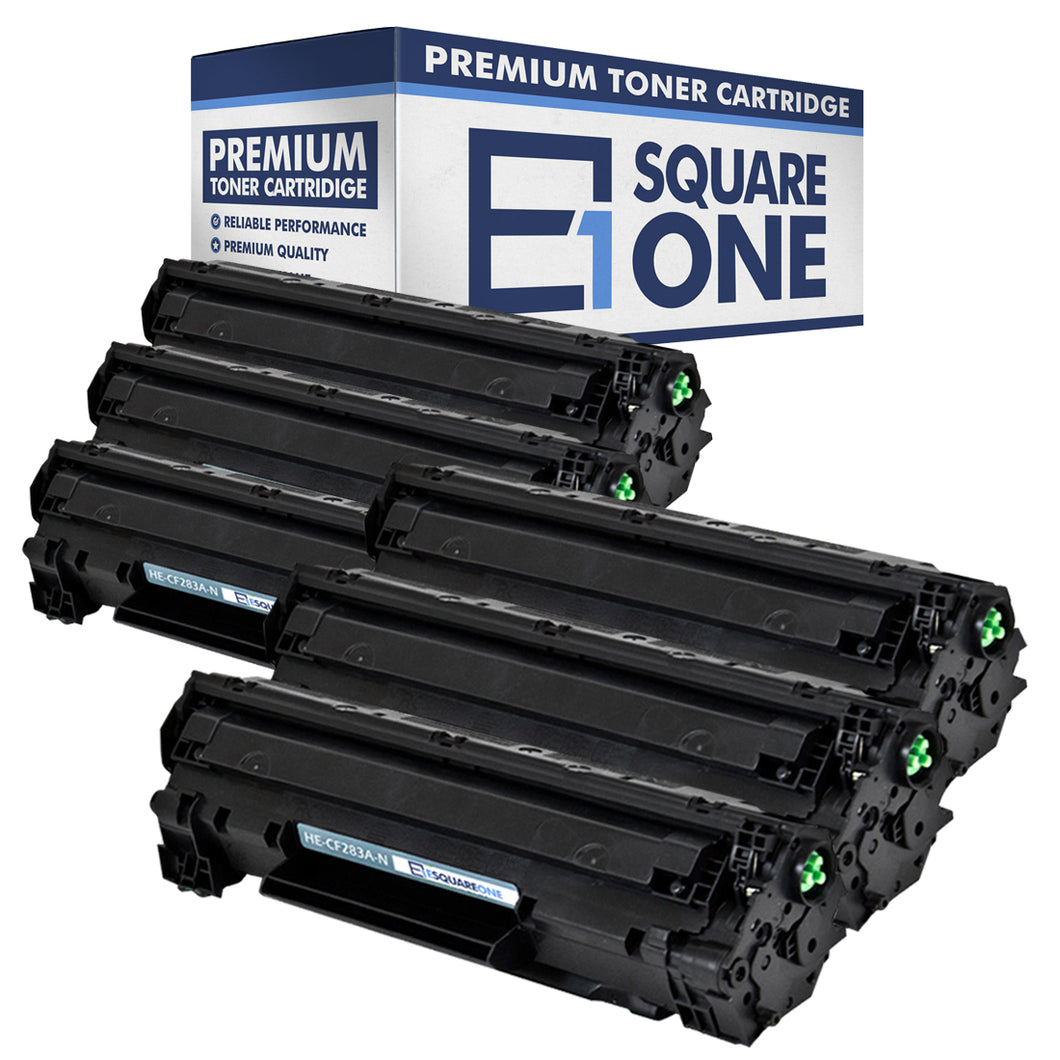 eSquareOne Compatible Toner Cartridge Replacement for HP 83A CF283A (Black, 6-Pack)