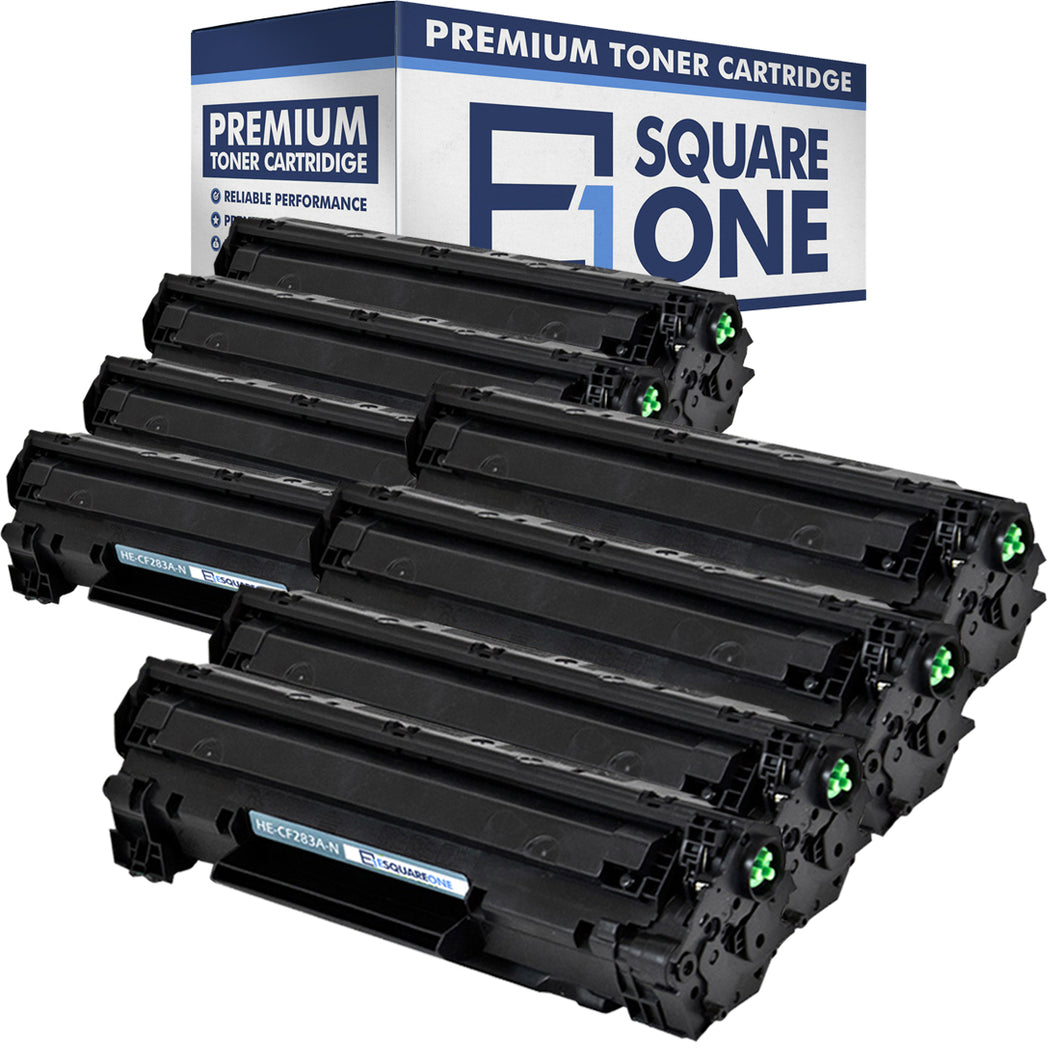 eSquareOne Compatible Toner Cartridge Replacement for HP 83A CF283A (Black, 8-Pack)