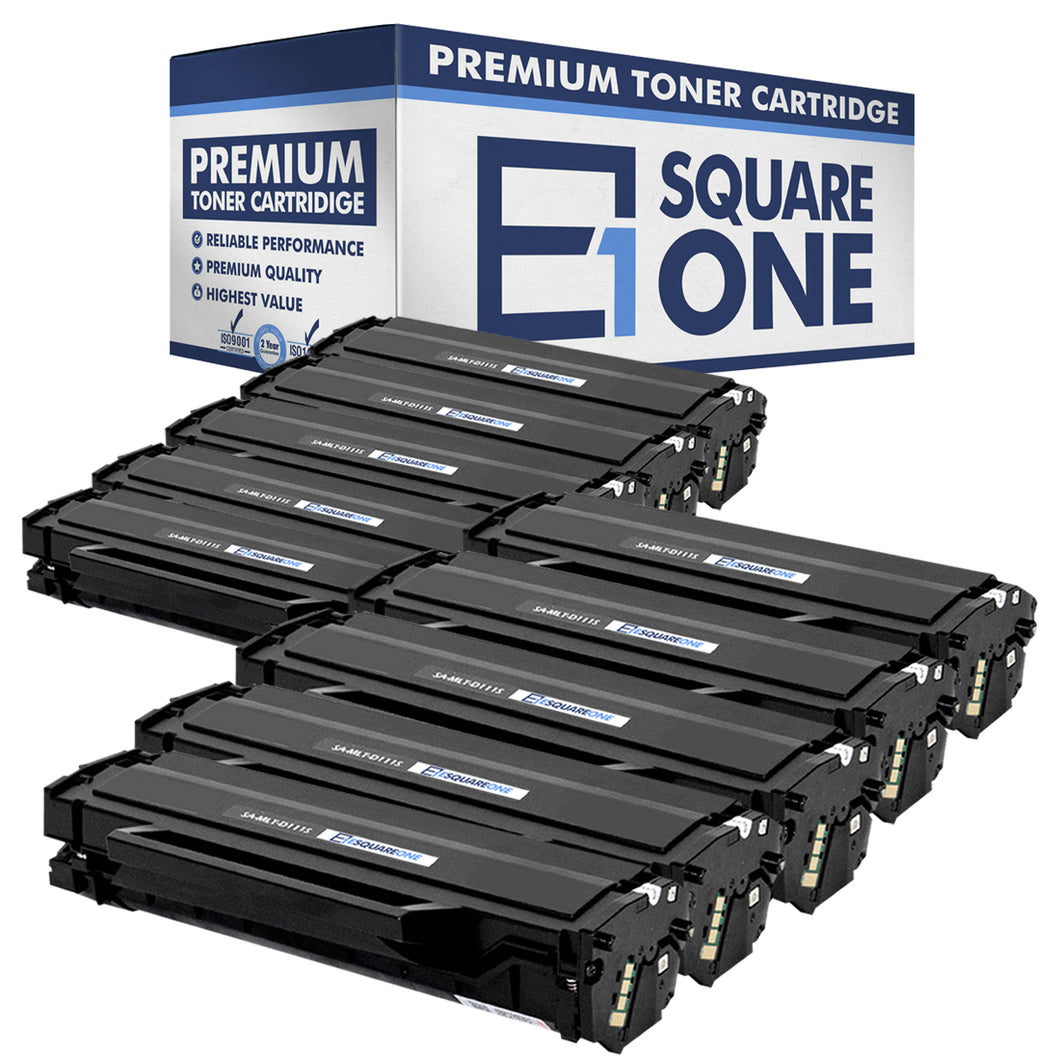 eSquareOne Compatible Toner Cartridge Replacement for Samsung 111S MLT-D111S (Black, 10-Pack)
