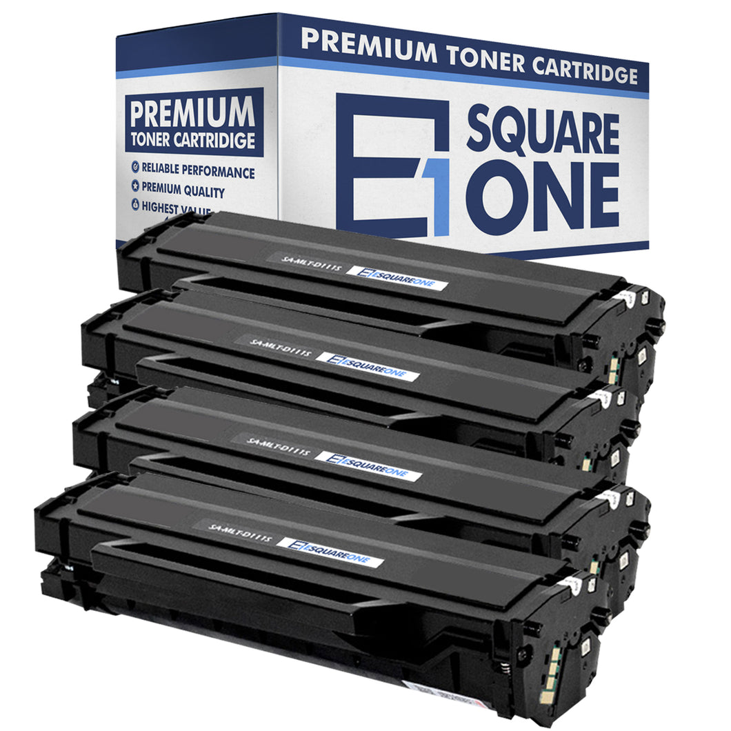 eSquareOne Compatible Toner Cartridge Replacement for Samsung 111S MLT-D111S (Black, 4-Pack)