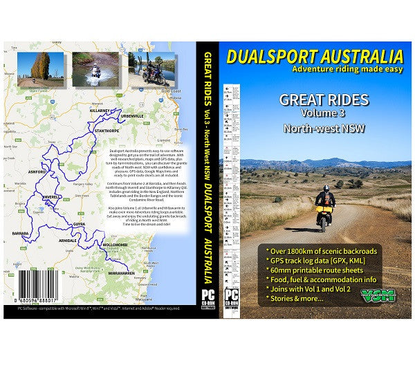"Dualsport Australia CD- Vol 3 :  ""Great Rides North-West NSW"""