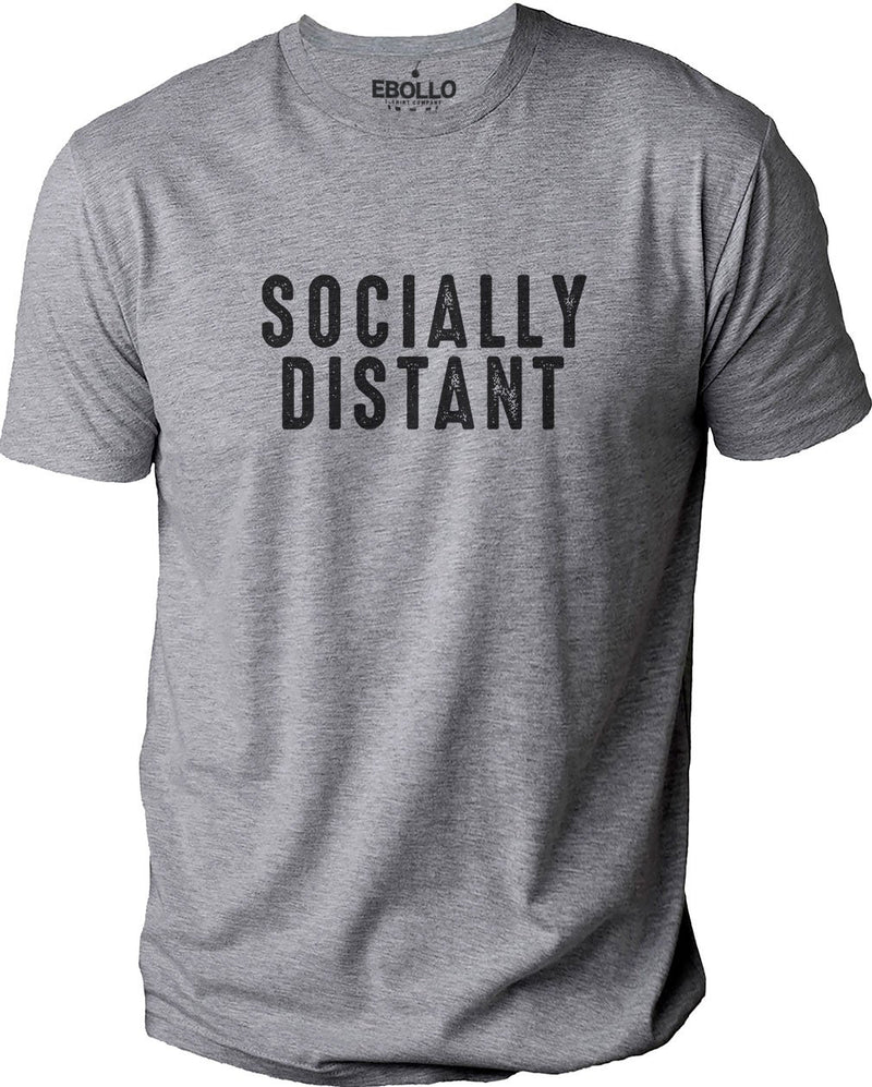Socially Distant Humor Mens Graphic Novelty Husband Gift Sarcasm Funny T Shirt - eBollo.com