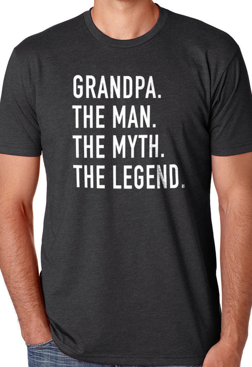 Grandpa The Man The Myth The Legend T-Shirt - eBollo.com