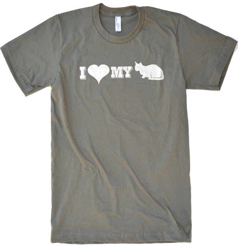 I Love My Cat Men's T-Shirt - eBollo.com