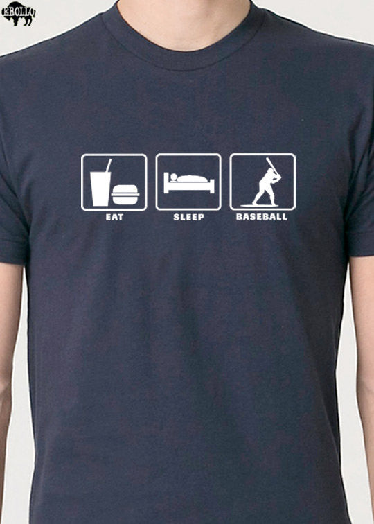 Eat Sleep BASEBALL Men's T-Shirt - eBollo.com