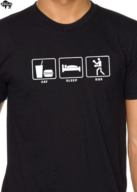 Eat Sleep BOX Men's T-Shirt - eBollo.com