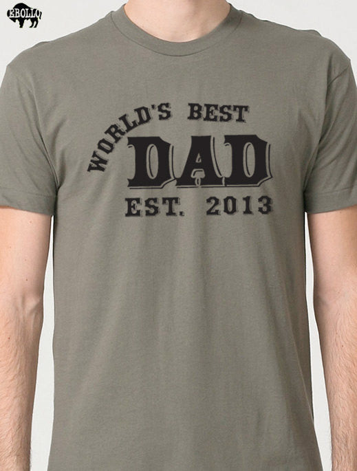 World's Best DAD (ANY YEAR) T-Shirt - eBollo.com
