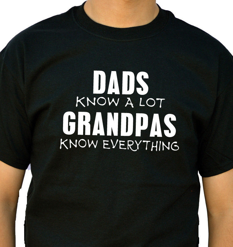 Grandpas Know Everything Men's T-Shirt - eBollo.com