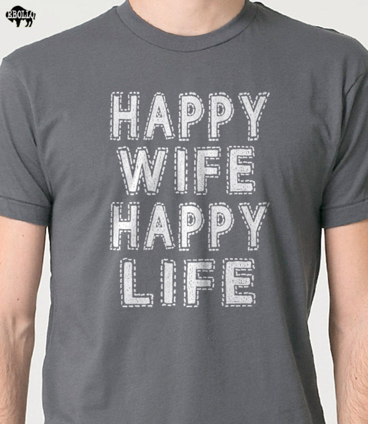 Happy Wife Happy Life Men's T-Shirt - eBollo.com