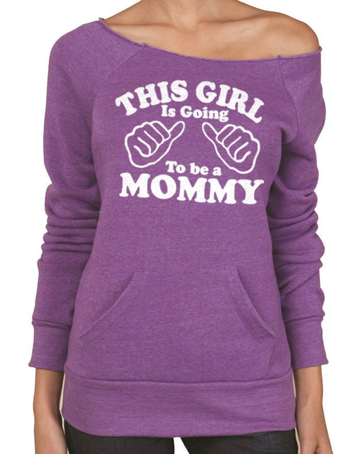 This Girl is going to be a Mommy Eco Fleece Sweatshirt - eBollo.com