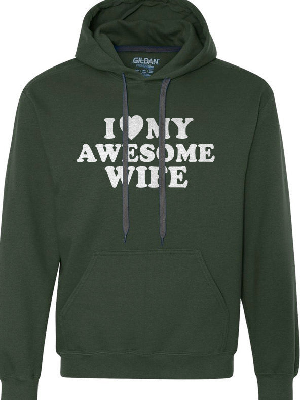 I Love My Awesome Wife Hoodie Sweatshirt - eBollo.com
