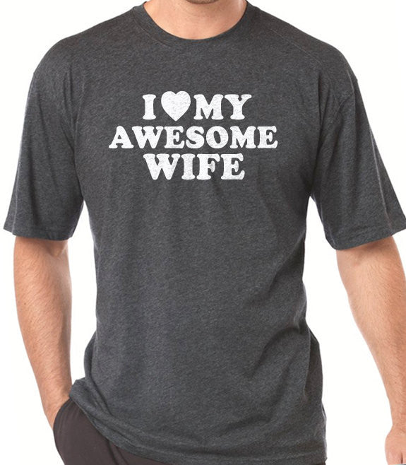 I Love My Awesome Wife T-Shirt - eBollo.com