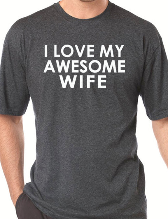 I Love My Awesome Wife Men's T-Shirt - eBollo.com