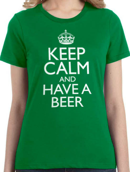 Keep Calm and Have a Beer Women's T-Shirt - eBollo.com
