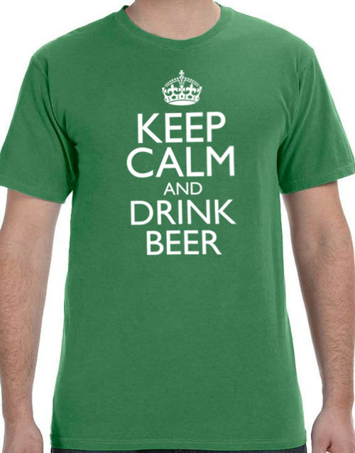 Keep Calm and Drink Beer Men's T-Shirt - eBollo.com