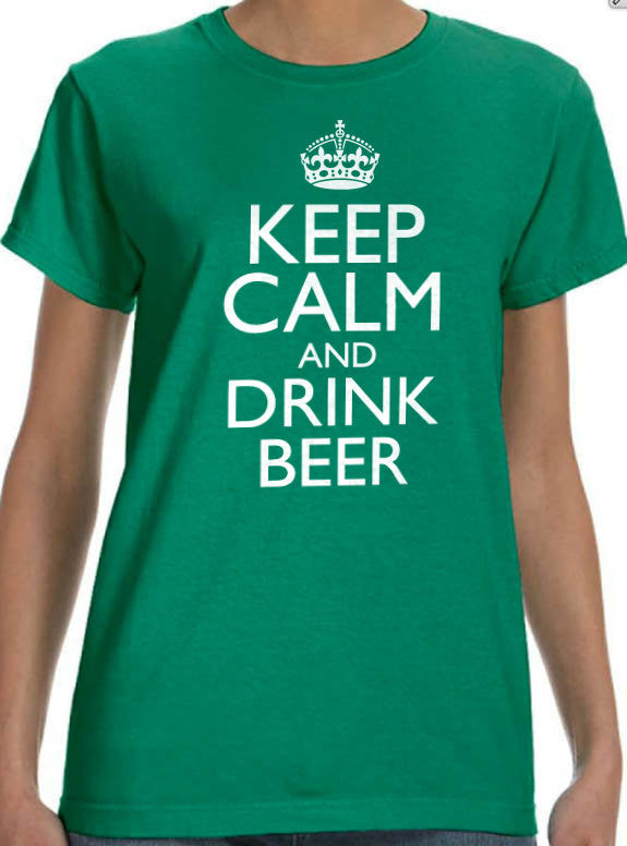 Keep Calm and Drink Beer Women's T-Shirt - eBollo.com