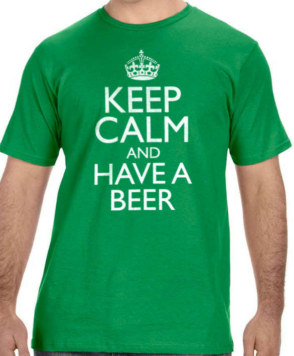 Keep Calm and have a Beer Men's T-Shirt - eBollo.com